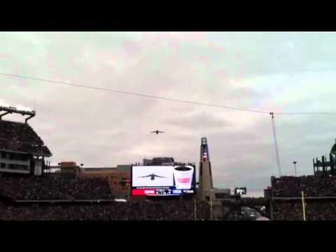 C-5 Galaxy Flyover - Gillette Stadium Patriots vs Ravens AFC Championship 1-22-2012