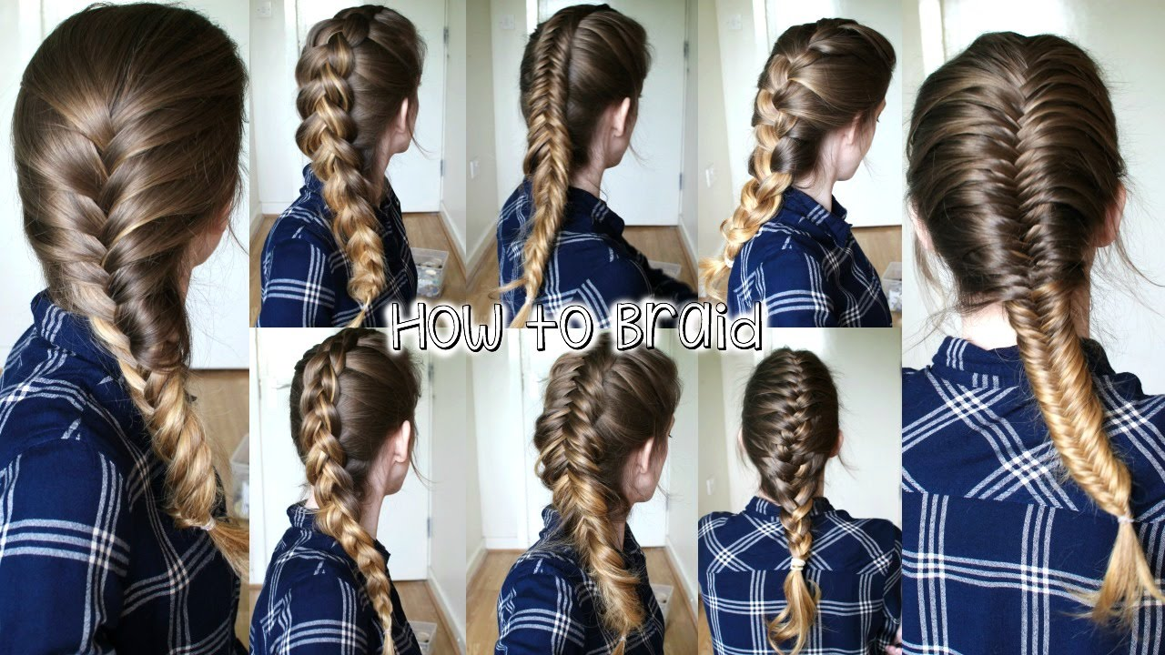 How To Braid Your Own Hair For Beginners ( Part 2)  How To Braid   Braidsandstyles12  Youtube