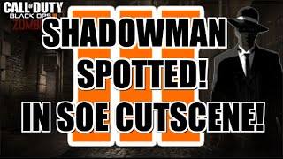 BO3 Zombies | Shadowman Spotted In Shadows of Evil Cutscene! Only in