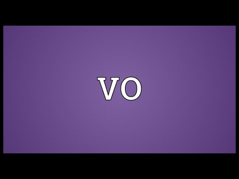 VO Meaning