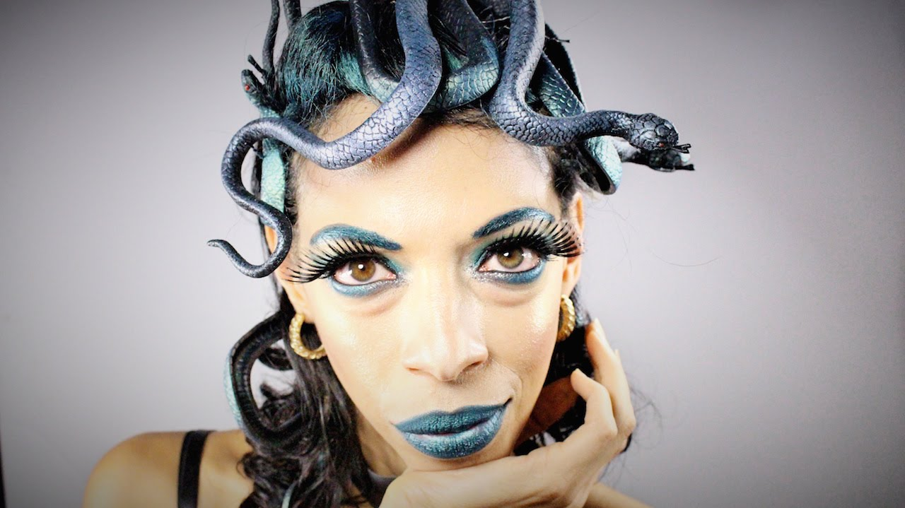 Halloween Makeup Tutorial: Glamorous Medusa - YouTube