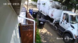 City Garbage Man Destroys Trash Bucket Because It Was Overfilled