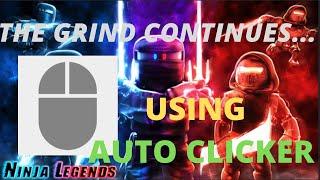 grinding to max rank using auto clicker | Ninja Legends (part 42)