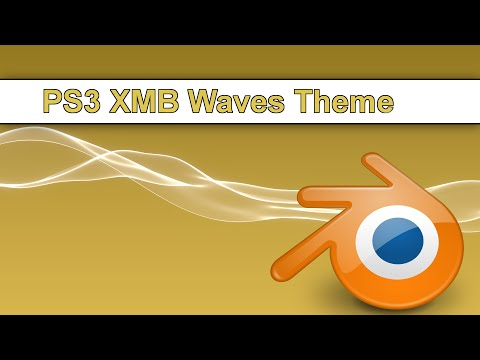 Create PS3 XMB theme Waves in Blender