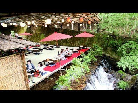 HIROBUN | Amazing Experience | Nagashi Soumen On Top Of A River Kyoto !!
