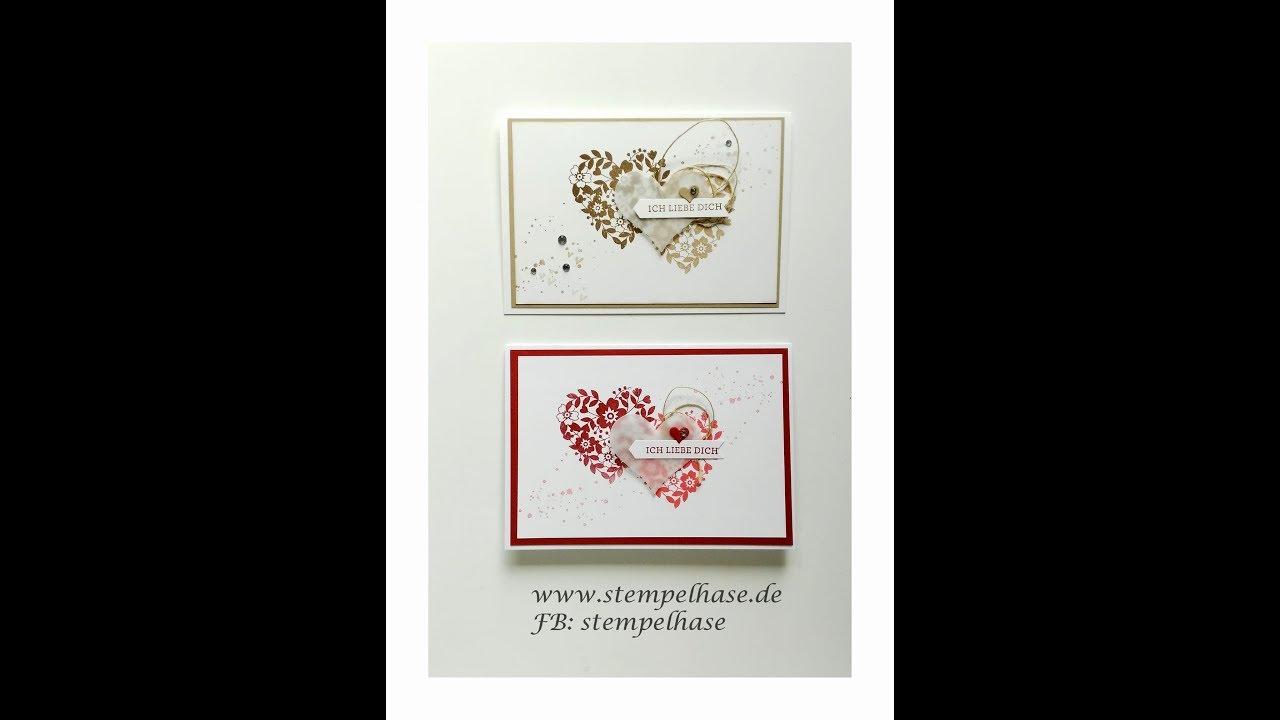 Valentinstag ❤ Geschenk Für Ihn ❤ Blüten Der Liebe ❤ Valentinskarte ❤  Hochzeitskarte ❤