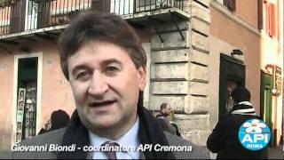 API. Alberto Gambino e Giovanni Biondi al sit-in contro la Lega sulle quote latte.