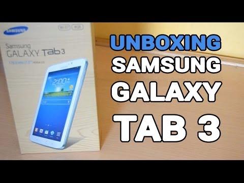 Unboxing Samsung Galaxy Tab 3 de 7 pulgadas en español