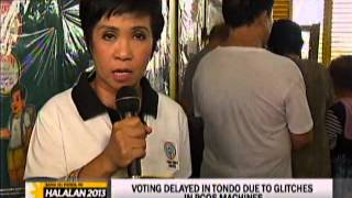 Senior citizens already voting in Tondo, Manila