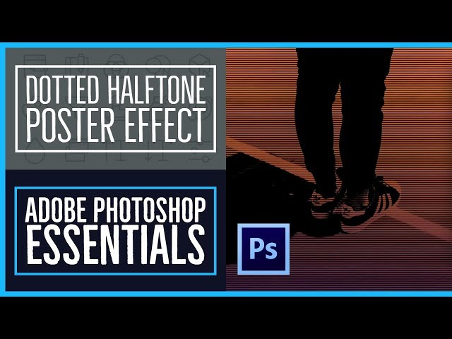 How to create the Dotted Halftone Poster Effect - Photoshop CC Essentials [42/86]