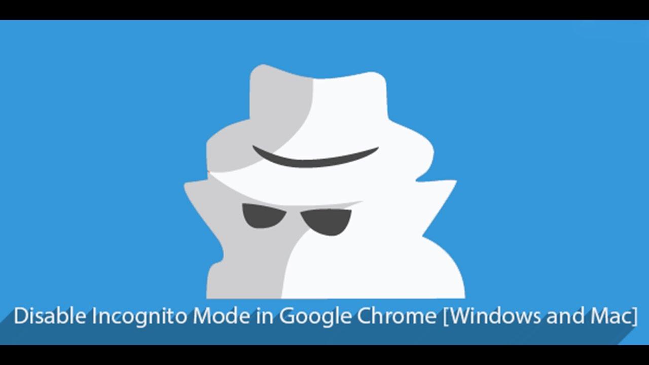 how to remove incognito mode