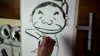 赤塚不二夫さんを描きました。イヤミとダブってしまった。