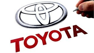 How to Draw the TOYOTA Logo