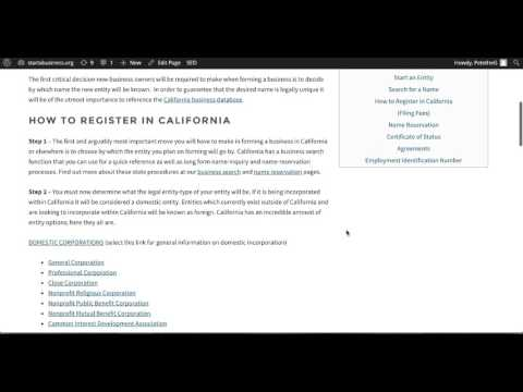 How to Start an Business in California | CA Secretary of State
