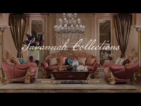 European Living Room Collection in Antique Gold by Savannah Collections - Marge Carson