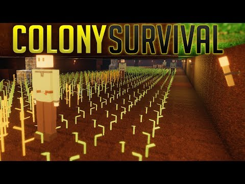 Colony Survival - Underground Farming & Guard Tower Network - Largest Colony? - Colony Survival Pt 6