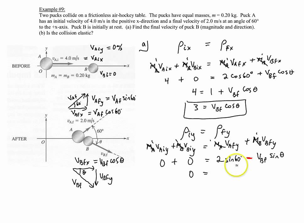 Chapter 7 Example 9 Two Dimensional Elastic Collision Of