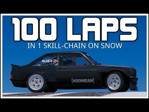 Forza Horizon 3 - 100 LAPS IN 1 SKILL-CHAIN ON SNOW - Ken Blocks Gymkhana RS1800
