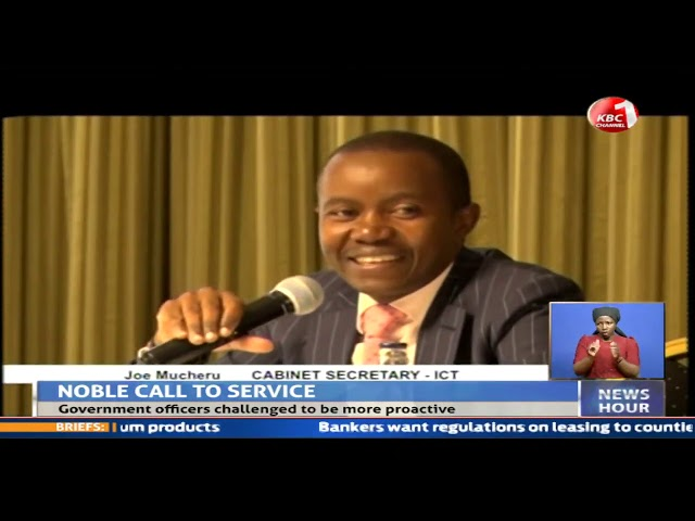 ICT Cabinet Secretary Mucheru Challenges government information systems to be  proactive