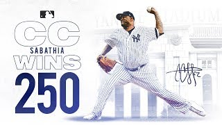 CC Sabathia wins his 250th Career Game