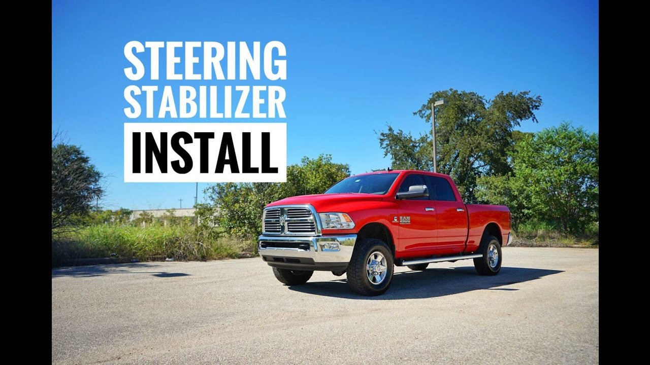 Ram 2500 Steering Stabilizer Install - YouTube
