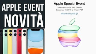 NOVITÀ APPLE EVENT - IPHONE 11