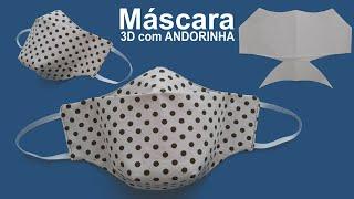 Máscara 3D com Andorinha