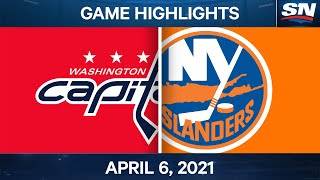 NHL Game Highlights | Capitals vs. Islanders - Apr. 6, 2021