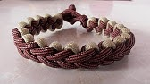 Learn How To Tie An Accented 3 Strand Braid Paracord Bracelet