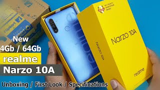 Realme Narzo 10A Unboxing / First Look || 4Gb / 64Gb Rs.9999 New Realme Narzo 10A