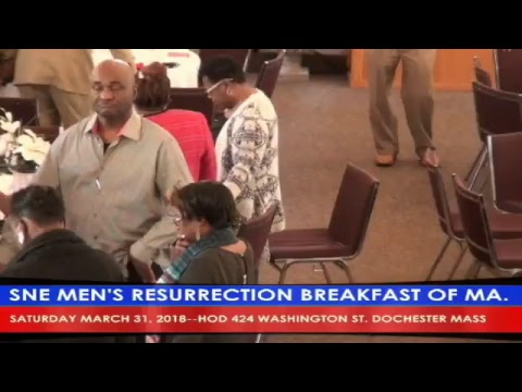 TELE BROCKTON LIVE AT SNE MEN'S RESURRECTION BREAKFAST OF MASS. 424 WASHINGTON ST DORCHESTER MASS.