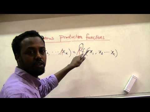 Homogeneous Productions Functions and Returns to Scale: Cobb Douglas Example