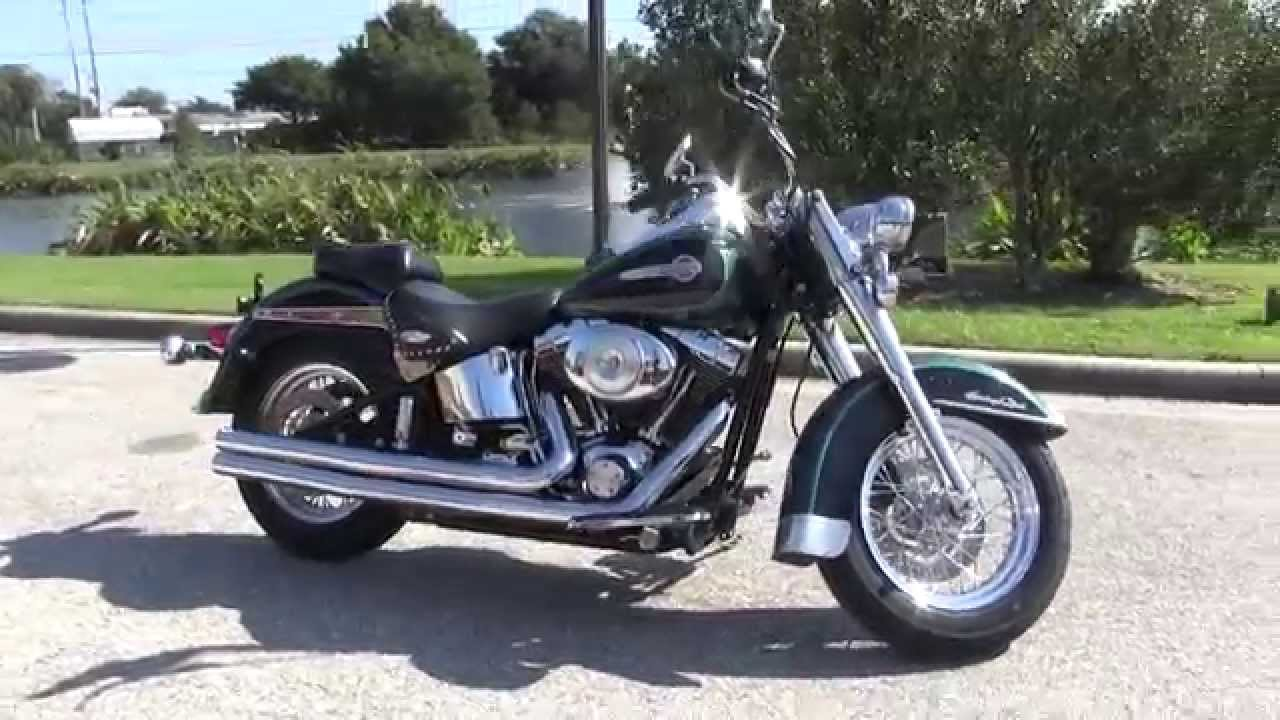 used 2002 harley davidson flstc heritage softail classic for sale in new york youtube. Black Bedroom Furniture Sets. Home Design Ideas