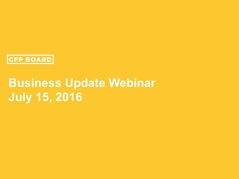 CFP Board's Business Update 07/15/2016
