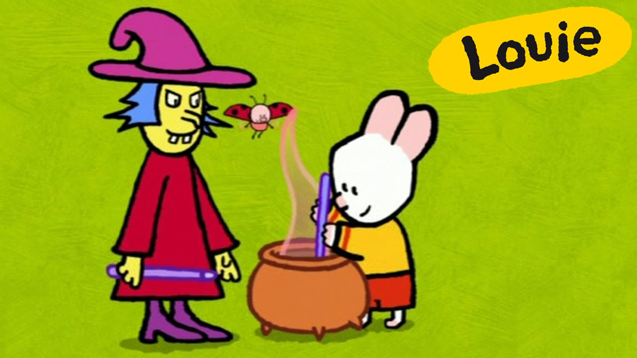Especial Halloween - Louie dibujame una bruja | Dibujos animados para niños