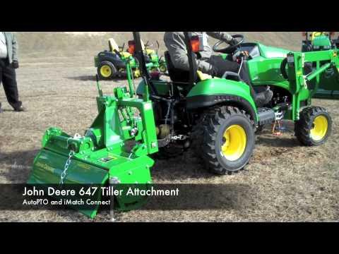 John Deere Tiller Attachment Demonstration YouTube