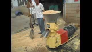 Repeat youtube video SKJ2-280 flat die wood pellet press/ pellet mill/ wood pelletizer (ruby@yljx168.com)