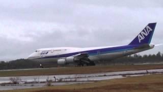 小松市 ANAジャンボ機 小松空港ラストフライト 離陸 RW06  スカイパークこまつ翼