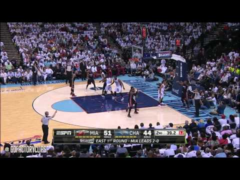Dwyane Wade Full Highlights at Bobcats 2014 Playoffs East R1G3 - 17 Pts