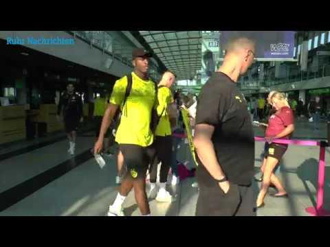 Der BVB auf dem Weg zum Spiel bei Union Berlin