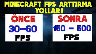 Minecraft'ta En Yüksek FPS Alabileceğiniz Ayarlar ( +500 FPS %100 ÇÖZÜM) KÖTÜ PC'DE BİLE !!