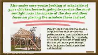 Poultry Shed Plans - How To Build Housing Sheds For Chickens