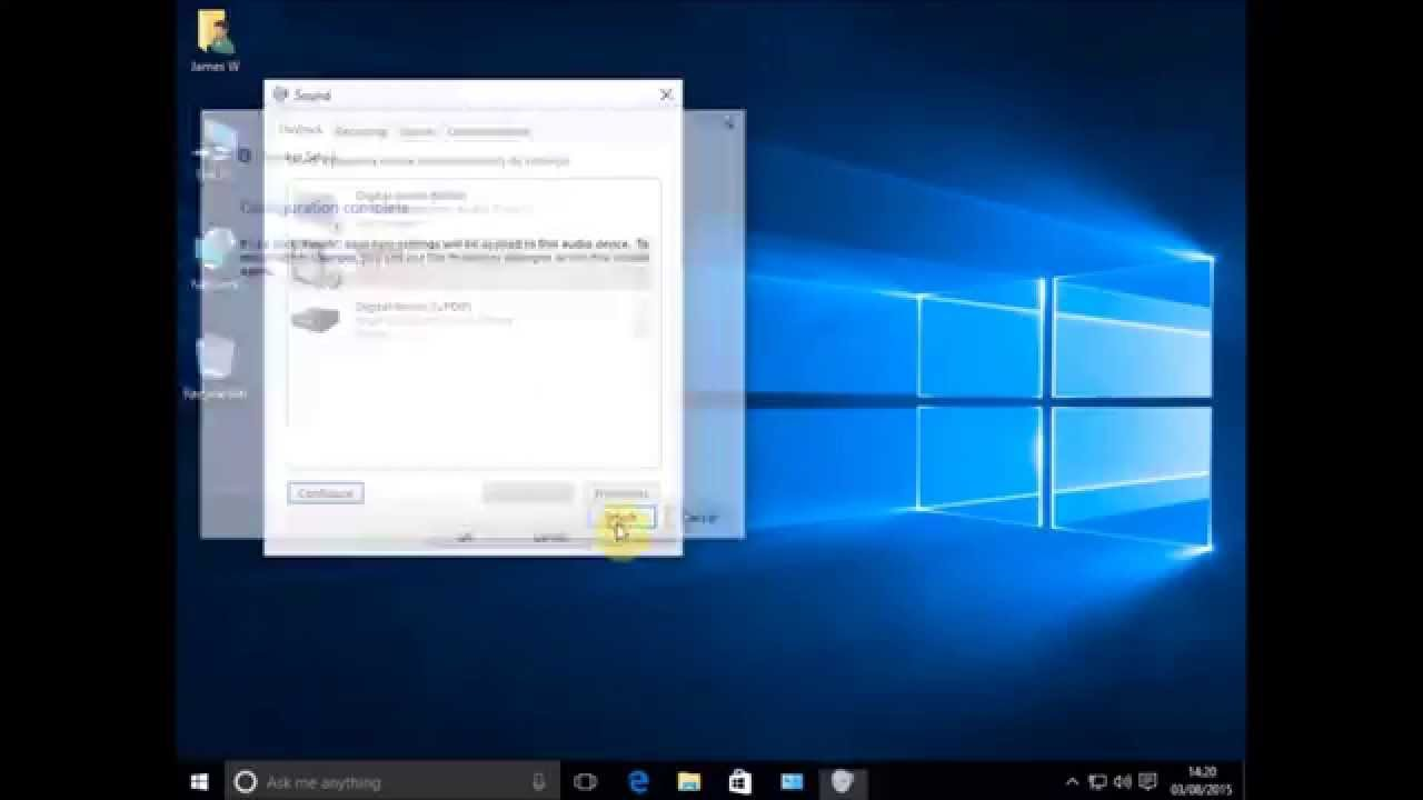 How to fix Audio Sound problem not working on windows 10 - YouTube