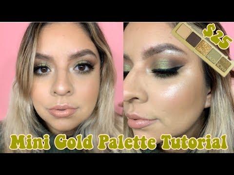 SWEATER WEATHER MAKEUP | NATASHA DENONA MINI GOLD PALETTE | TUTORIAL & REVIEW thumbnail