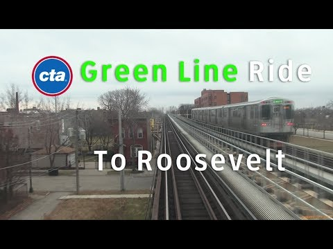 """CTA """"L"""" Rail - 5000 Series """"L"""" Green Line Ride from Indiana to Roosevelt (2014)"""