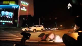 В Сургуте автоинспектор преследовали легковушку, которую пьяный жених без спроса взял у ..  невесты