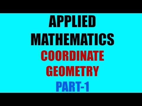 COORDINATE GEOMETRY | PART-1 | APPLIED MATHEMATICS | BSNL JE(TTA) | JTO| ENGINEERING EXAMINATION