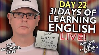 31 Days of Learning English - DAY 22 - improve your English - PROTEST - 22nd October - Tuesday