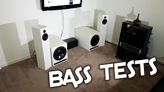 BASS TESTS ON MY SUBWOOFERS!