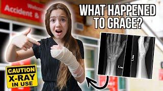 SHE BROKE HER ARM 😢